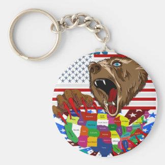 Mama-Grizzly-Set-1 Standard Runder Schlüsselanhänger