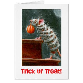 Mama-Maus, Trick oder Leckerei! Halloween-Karte Karte