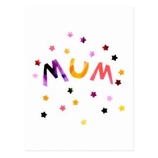 Mama spielt Postkarte die Hauptrolle