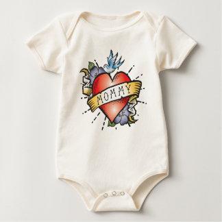 Mama-Tätowierung Baby Strampler