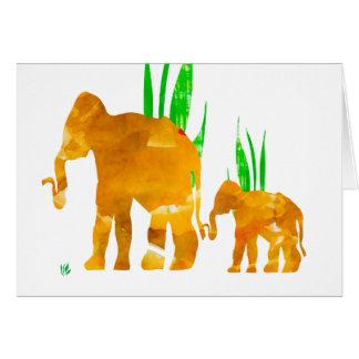 Mama und ich Elefant Karte