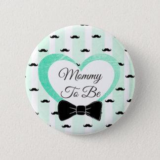 Mama, zum grüner und schwarzer Schnurrbart-Knopf Runder Button 5,1 Cm