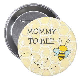 Mama, zum Hummel-Babyparty-Knopf zu sein Runder Button 7,6 Cm