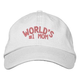Maman du #1 du monde - piquer rose casquette de baseball brodée