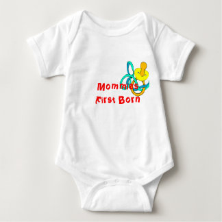 Mamas zuerst geboren baby strampler