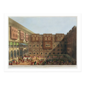 Mamelukes, das im Quadrat von Mourad Beys Postkarte