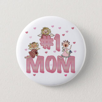 Mamma #1 runder button 5,1 cm