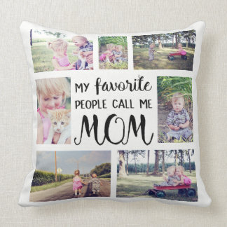 Mamma-Foto-Collage meine Lieblingsleute rufen mich Kissen