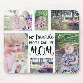 Mamma-Foto-Collage meine Lieblingsleute rufen mich Mauspad