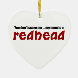 Mamma ist ein Redhead Keramik Herz-Ornament