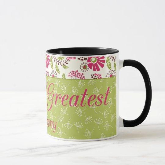 Mamma-Kaffee-Tasse der Trendy Blumenwelt bestste Tasse
