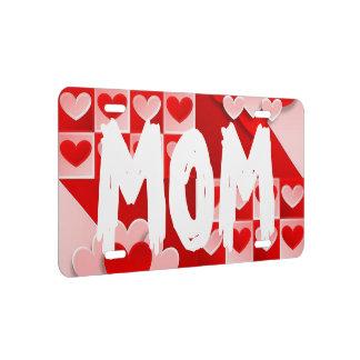 Mamma-Liebe-Herz-rote weiße US Nummernschild