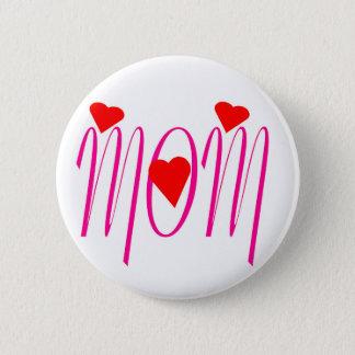 Mamma mit roten Herzen Runder Button 5,1 Cm