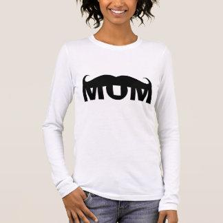 MAMMA-SCHNURRBART LANGARM T-Shirt