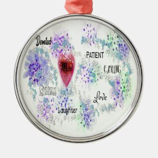 Mamma Silbernes Ornament