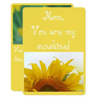 Mamma, sind Sie mein Sonnenschein! 12,7 X 17,8 Cm Einladungskarte