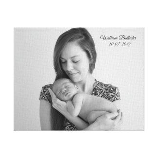 Mamma-u. Bub neugeborenes Leinwanddruck