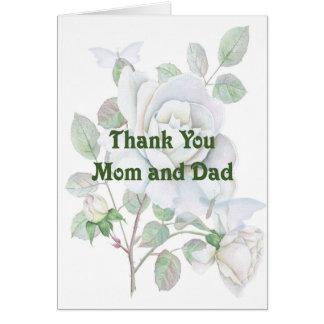 Mamma u. Vati danken Ihnen zu kardieren für das Karte