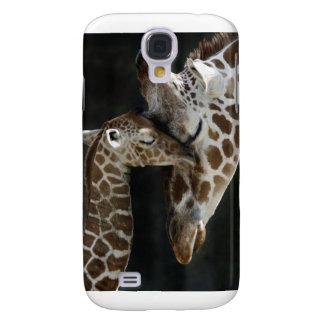 Mamma-und Baby-Giraffen-Umarmung Galaxy S4 Hülle