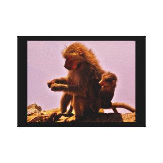 Mamma und Baby Leinwanddruck