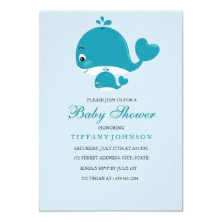Mamma- und Bubbaby Wal-Baby duschen Einladung