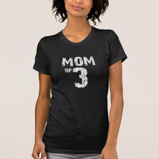 Mamma von 3 auf Dunkelheit T-Shirt