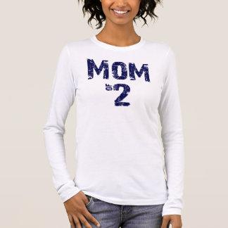 Mamma von Blau 2 auf Weiß Langarm T-Shirt