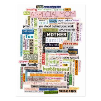 Mamma-Wort-Collage Postkarte