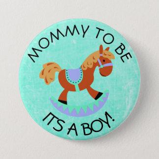 Mamma, zum Pferderocker-Babyparty-Knopf zu sein Runder Button 7,6 Cm