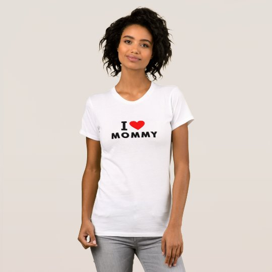 Mammaherzmama-Textmitteilungs-Muttersymbol der T-Shirt