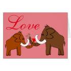 Mammoths in Love Karte