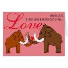 Mammuts in der Liebe Karte