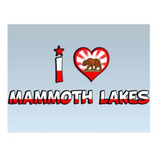 Mammutseen, CA Postkarte