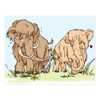 MammutValentinsgruß Postkarte