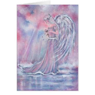 Manakel Engel Weihnachtskarte durch Renee Grußkarte