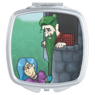 Manbunzel kompakter Spiegel Schminkspiegel