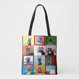 Manchester-Terrier ganz vorbei - drucken Sie Tasche