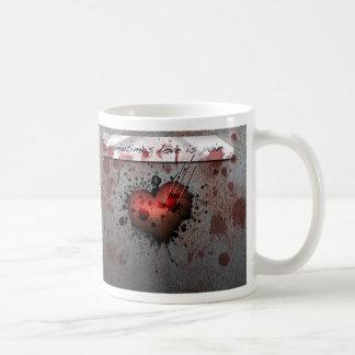 Manchmal ist Liebe Schmerz Kaffeetasse