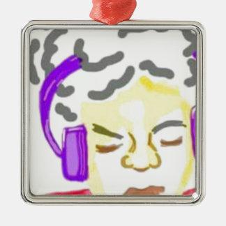Manchmal müssen Sie in der Musik verloren nur Silbernes Ornament