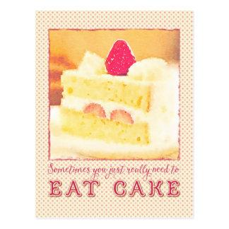 Manchmal müssen Sie wirklich Erdbeerkuchen essen Postkarte