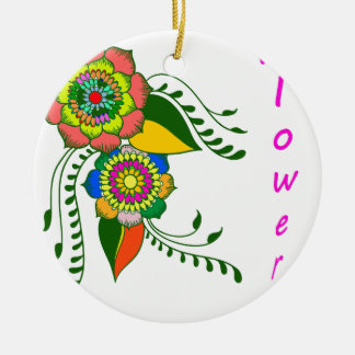 mandala2 flower keramik ornament