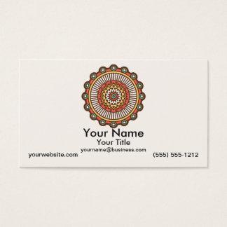 Mandala auf Creme Visitenkarte