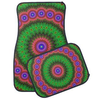 Mandala-Blumenblumenstrauß Autofußmatte