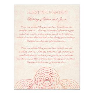 Mandala Boho schicke Hochzeits-Gast-Informationen 10,8 X 14 Cm Einladungskarte