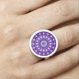 Mandala d'anneau bague avec photo