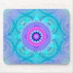 Mandala de turquoise de fleur de Lotus Tapis De Souris