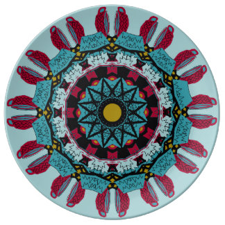 Mandala-dekorative Porzellan-Platte Porzellanteller