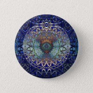 Mandala des Noedic Netz-Knopfes Runder Button 5,1 Cm