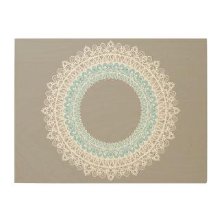Mandala Doilie Spitze-Kreisentwurfs-Wand-Kunst Holzdruck