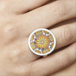 Mandala-Gelb Foto Ringe